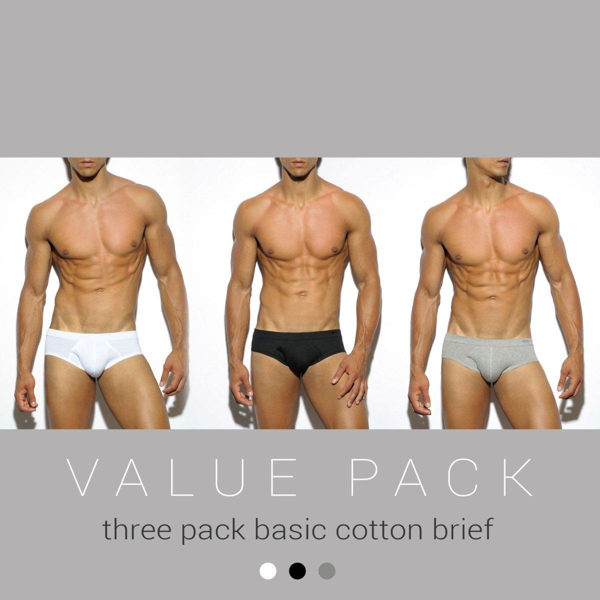 Slipy ES Collection UN184P Basic Cotton Brief 3 ks