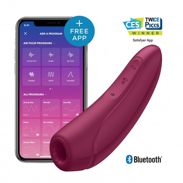 Stimulátor klitorisu Satisfyer Curvy 1+ Rose Red