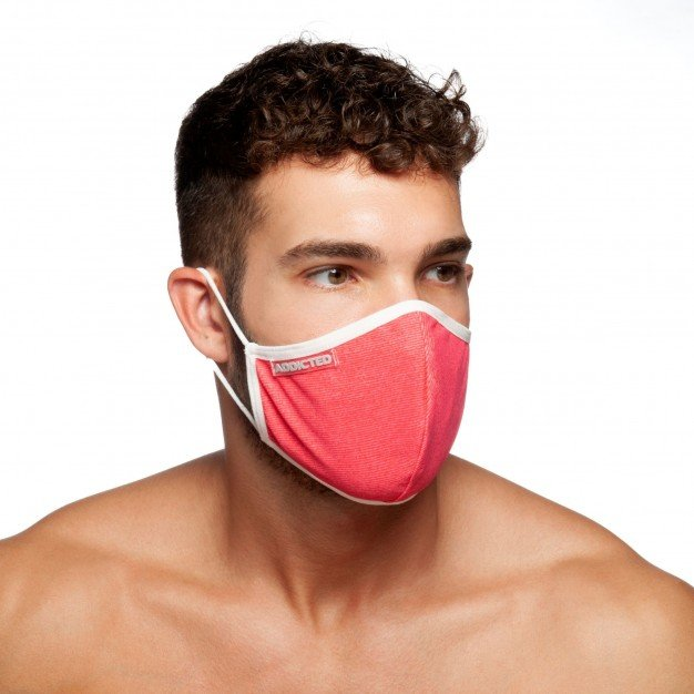 Addicted AC113 Red Stripes Face Mask