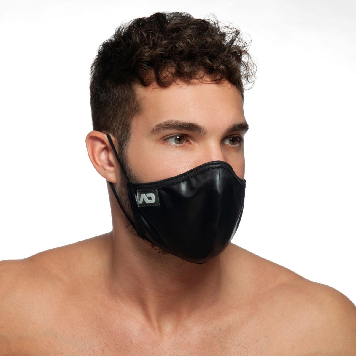 Addicted AC108 Shiny Face Mask Black
