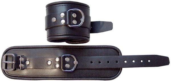 Mister B Leather Ankle Restraints Black
