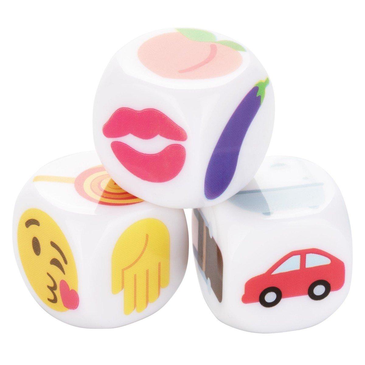 CalExotics Emojigasm Dice, erotické hrací kostky