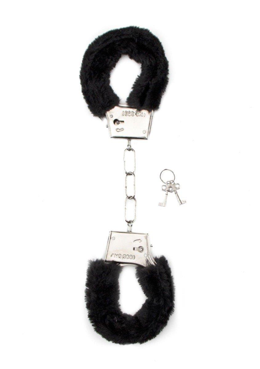 Plyšová pouta Shots Toys Furry Handcuffs černá
