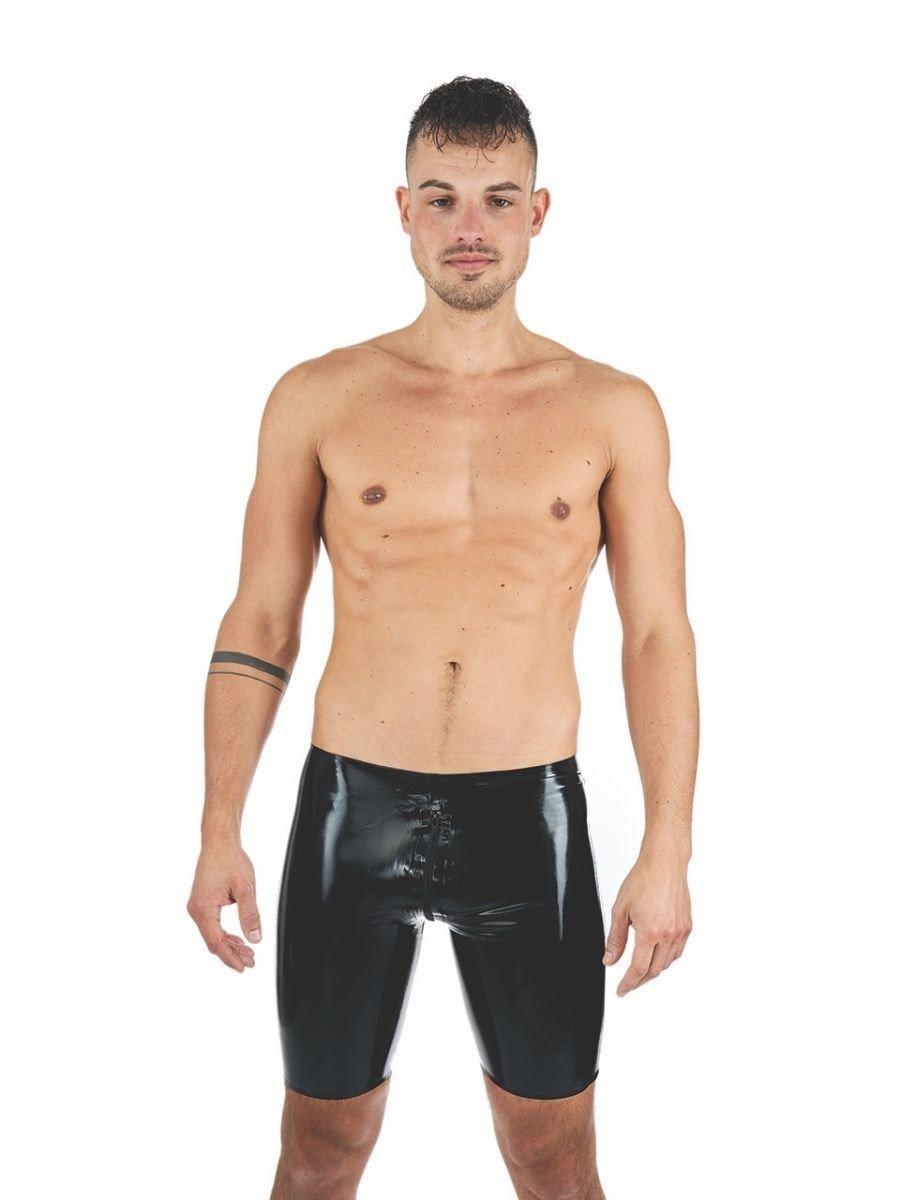 Gumové kraťasy Mister B Rubber Fucker Shorts černé