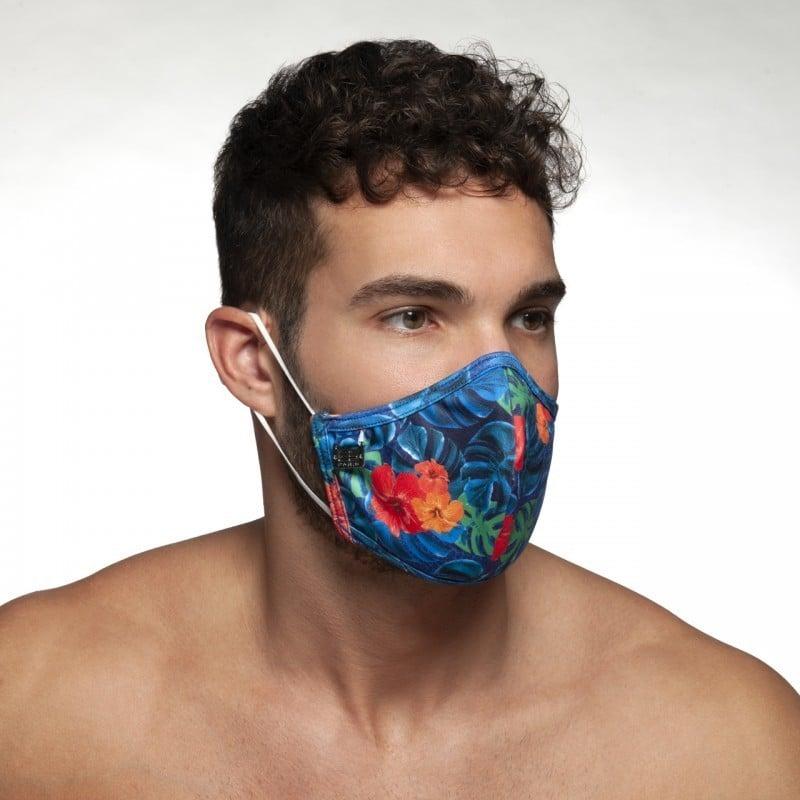 Rúško ES Collection AC099 Flowery Mask tmavo modré