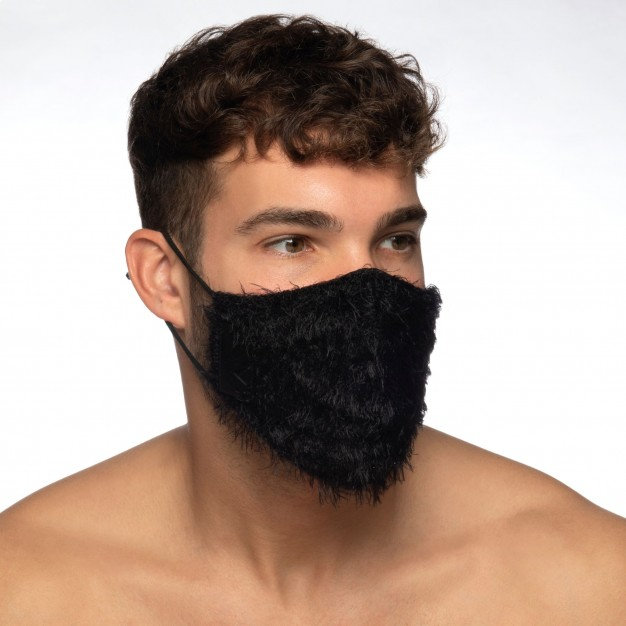 Addicted AC131 Feather Face Mask Black