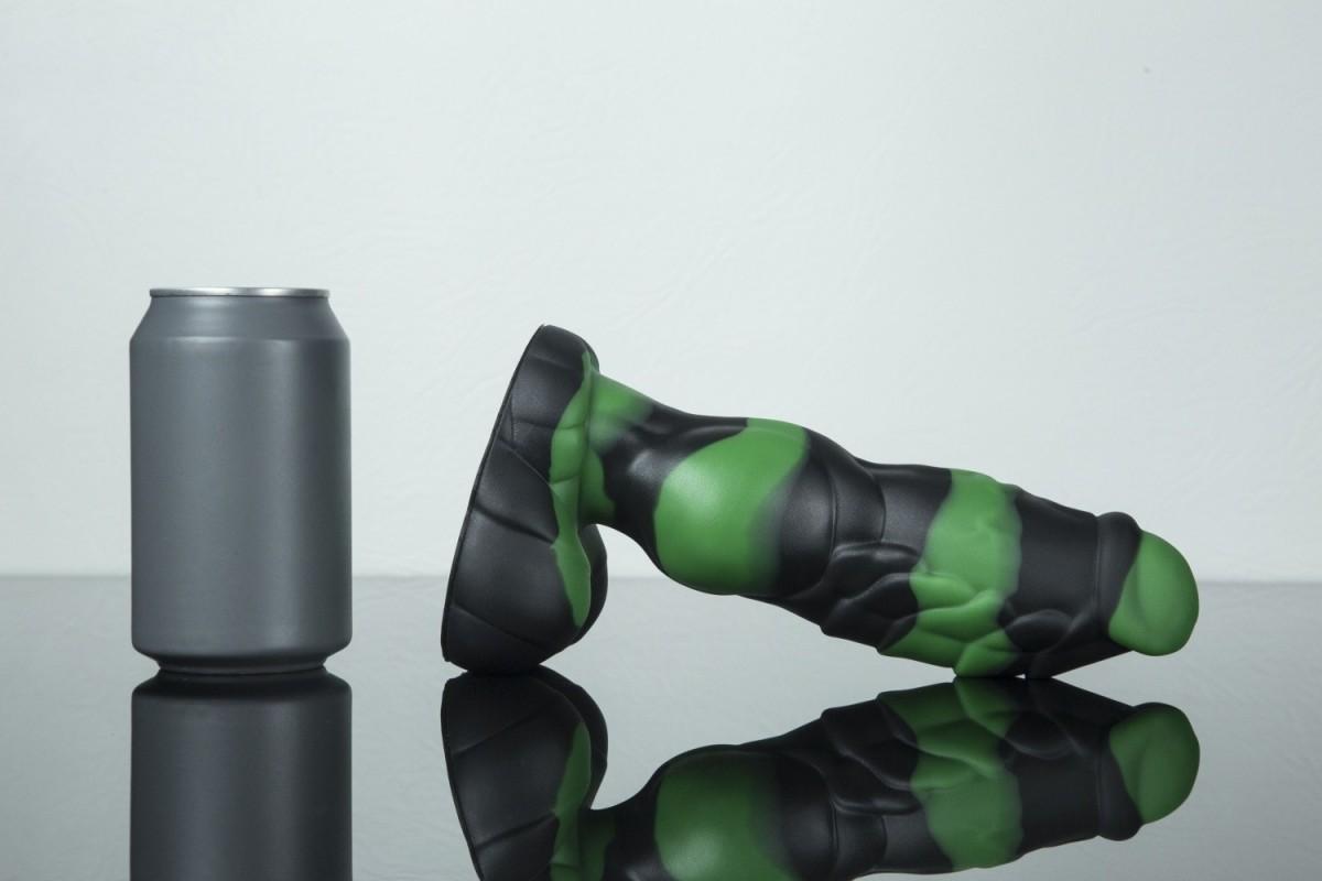 Dračí dildo Weredog Gage Jet/Evergreen Marbled střední