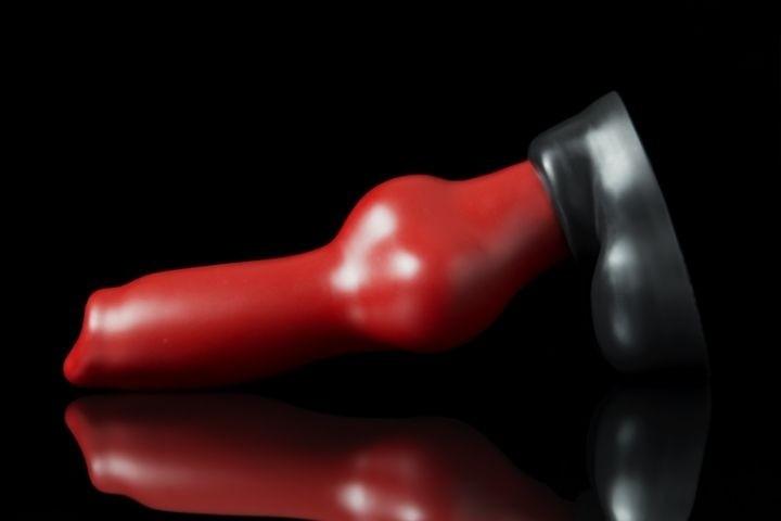 Psie dildo Weredog Rutt Crimson/Jet veľké