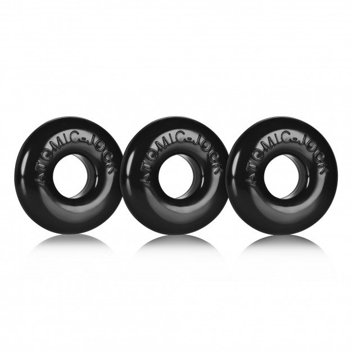 Oxballs Ringer Cock Rings 3-Pack Black
