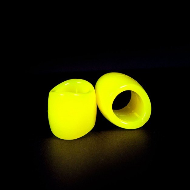 Zizi Plasma Cock Ring & Ball Stretcher 2 pcs Fluo Yellow