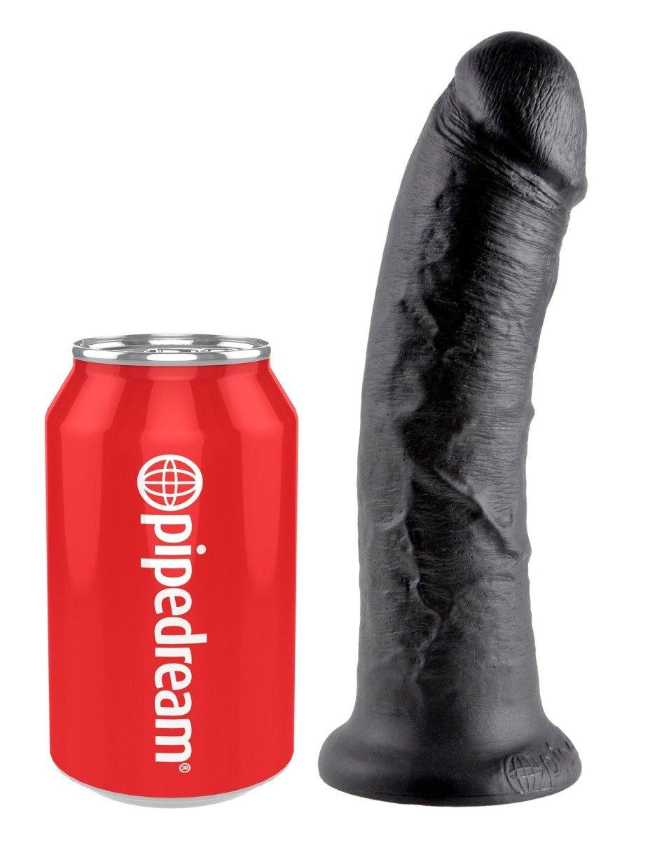 King Cock 8″ Black Realistic Dildo