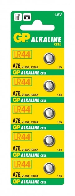 GP A76 LR44 1.5 V Battery (5 pcs)