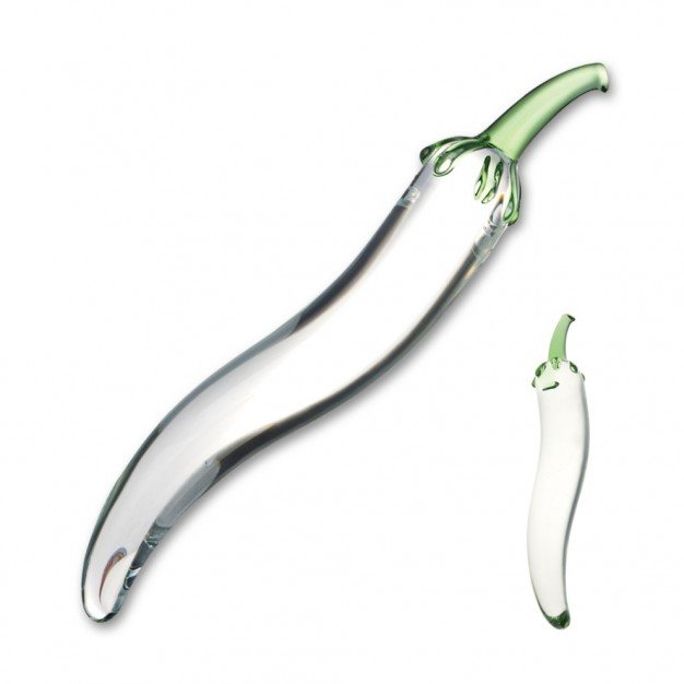 Skleněné dildo Gläs Glass Naturals Chili Pepper