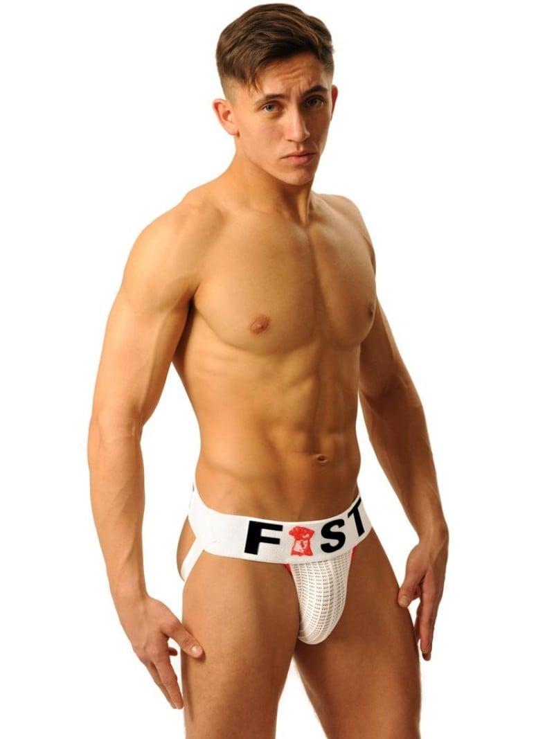M&K Fist Logo Jock White