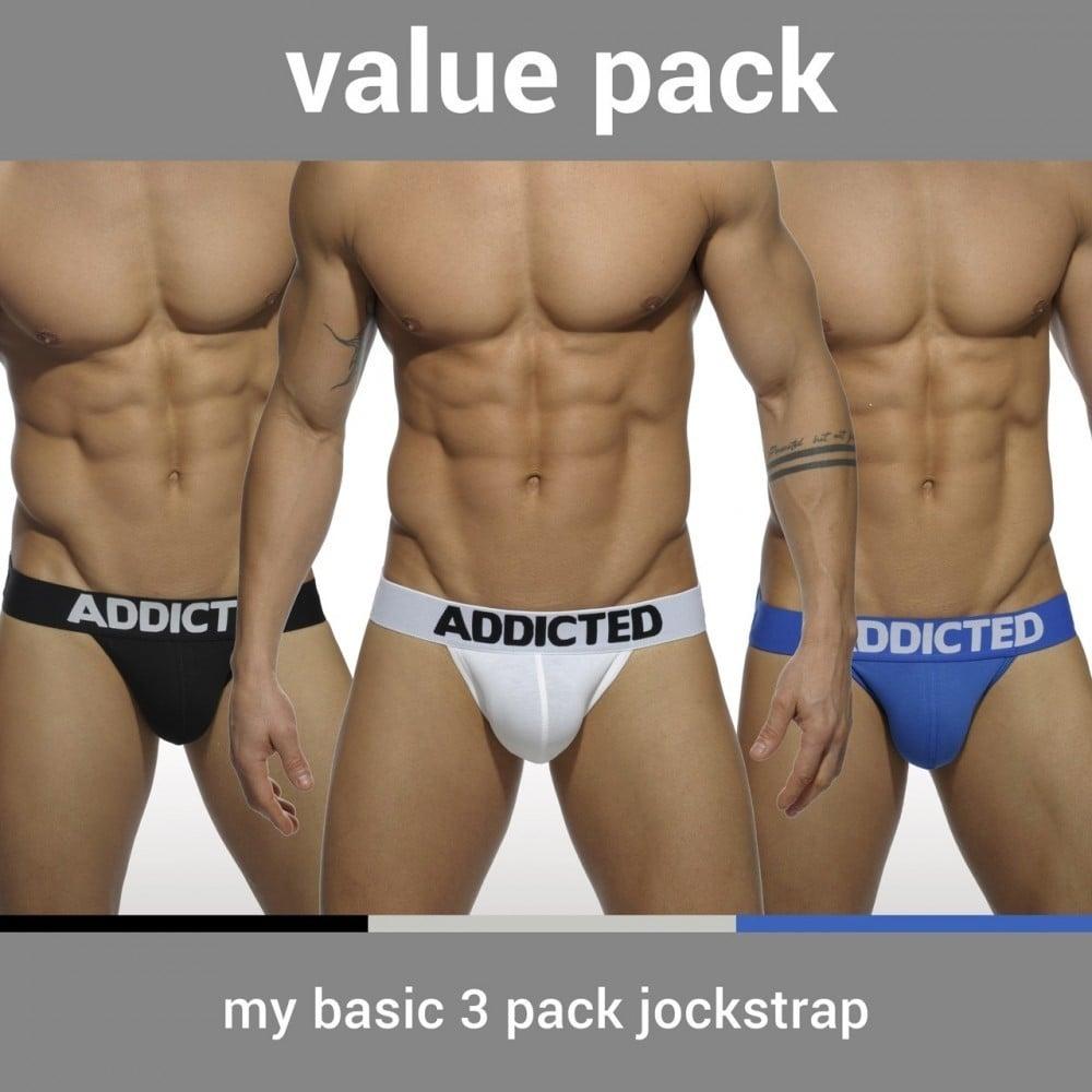Addicted AD422P My Basic 3 Pack Jockstrap