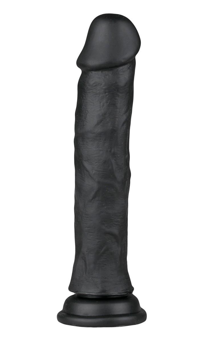 Realistické dildo EasyToys černé 22,3 cm