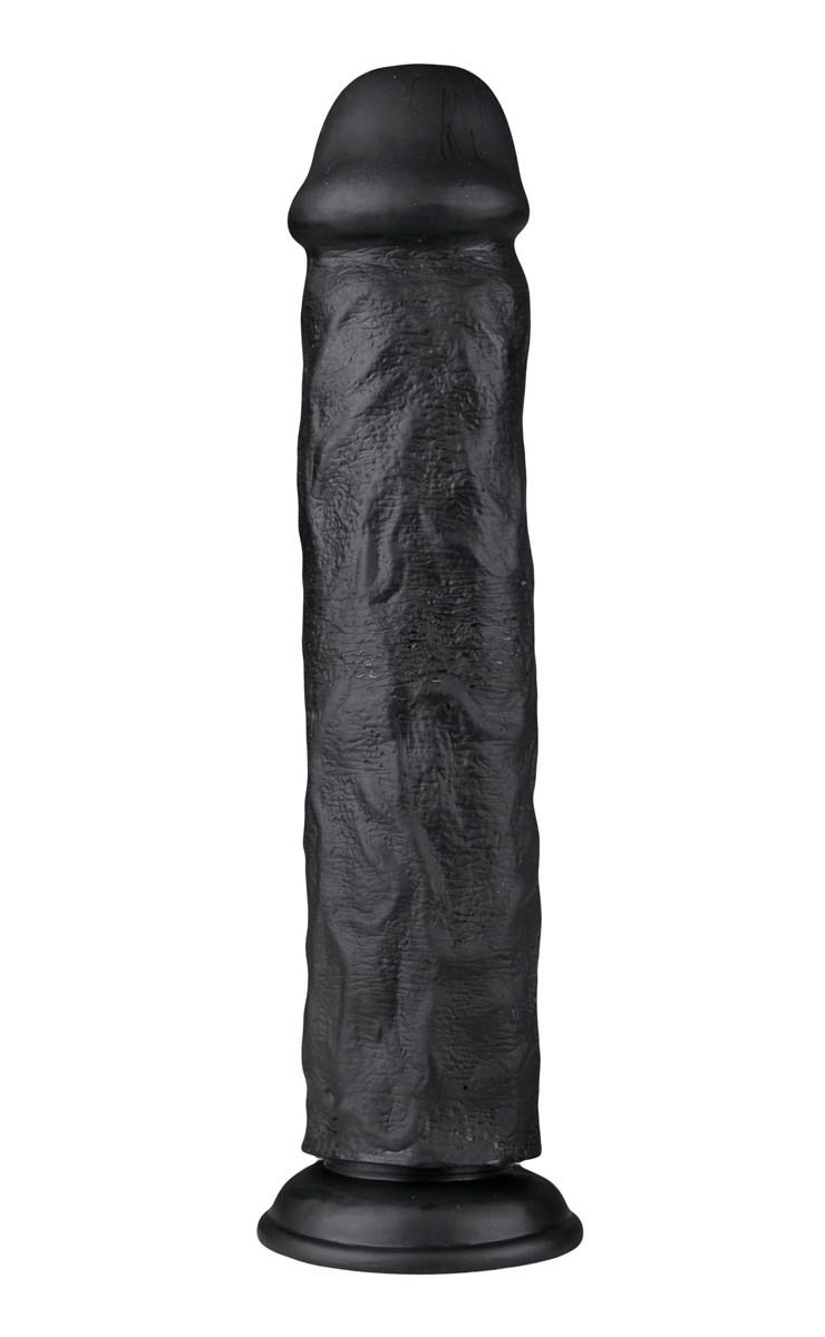 Realistické dildo EasyToys černé 28,3 cm