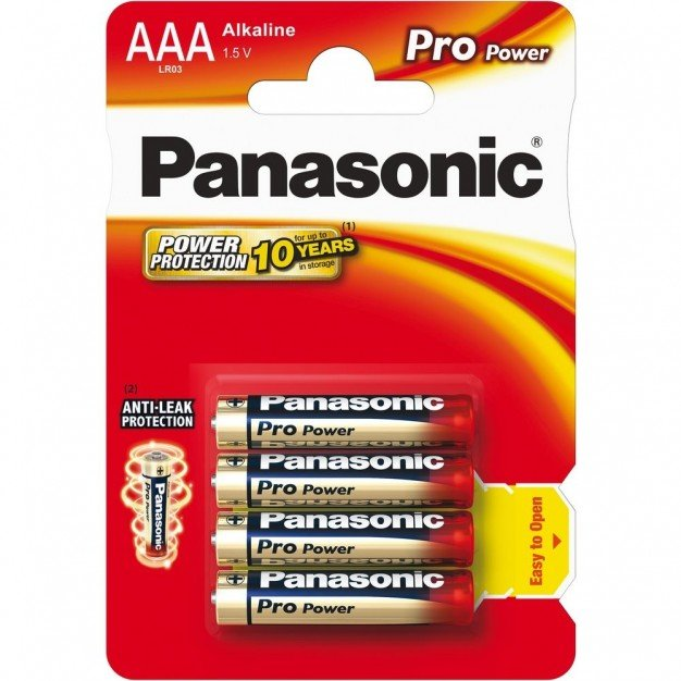 Panasonic AAA LR03 1.5 V Pro Power Batteries