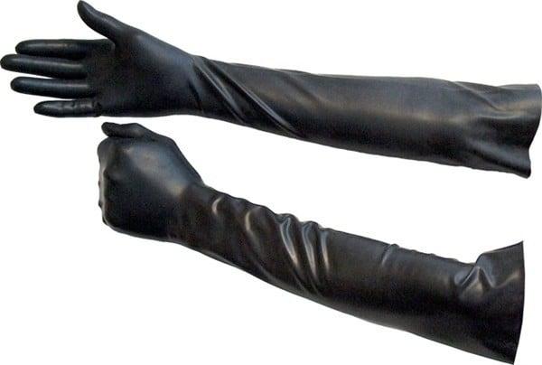 Gumové rukavice nad loket Mister B černé
