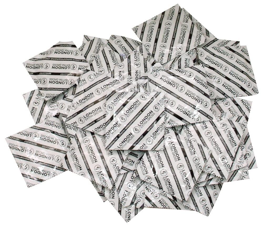 Durex London Extra Large 100 Pack, extra velké latexové kondomy