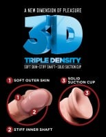 King Cock Plus 8″ Triple Density Fat Realistic Dildo with Balls