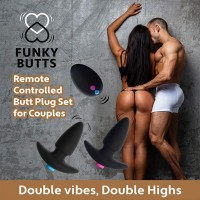 Sada 2 vibračných análnych kolíkov FeelzToys FunkyButts