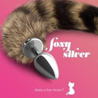 Foxy Silver Anal Plug Tail