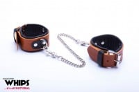 Whips Leather Handcuffs for Her Cognac