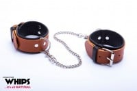Whips Leather Ankle Cuffs for Her Cognac