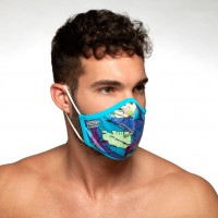 ES Collection AC101 Leaves Face Mask Peacock