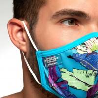 Rúško ES Collection AC101 Leaves Mask modré