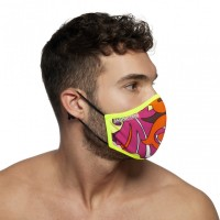 Addicted AC093 Flames Face Mask