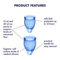 Satisfyer Feel Confident Menstrual Cups Dark Blue