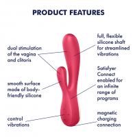 Satisfyer Mono Flex Silicone Vibrator Red