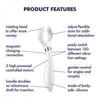 Multifunkční vibrátor Satisfyer Partner Multifun 3 bílý