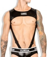 Postroj Outtox HR142-90 Harness Top with Cockring čierny