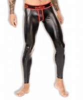 Outtox LG142-10 Zippered-Rear Leggings Red