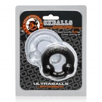 Oxballs Ultraballs Cock Rings Black and Clear