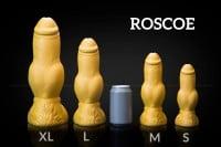 Psí dildo Weredog Roscoe Crimson/White velké