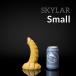 Dračie dildo Weredog Skylar Cobalt/White malé