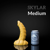 Weredog Skylar Dragon Dildo Cobalt/White Medium