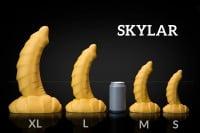 Dračie dildo Weredog Skylar Cobalt/White extra veľké