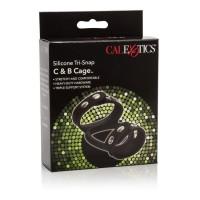 Silikonový erekční kroužek CalExotics Tri-Snap C & B Cage
