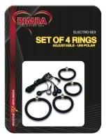 Kroužky Rimba Electro Sex Set of 4 Rings