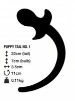 Anální kolík s ocasem M&K Puppy Tail No. 1