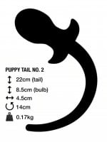 M&K Puppy Tail No. 2 Butt Plug