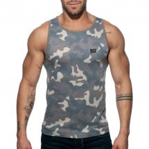Pánske tielko Addicted AD801 Washed Camo Tank Top Camouflage