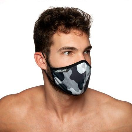 Rouška Addicted AC087 Camo Mask maskáčová šedá