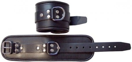 Mister B Leather Ankle Restraints Black