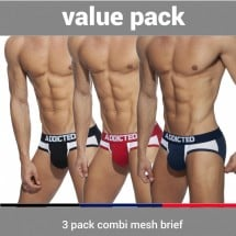 Addicted AD845P 3 Pack Combi Mesh Brief
